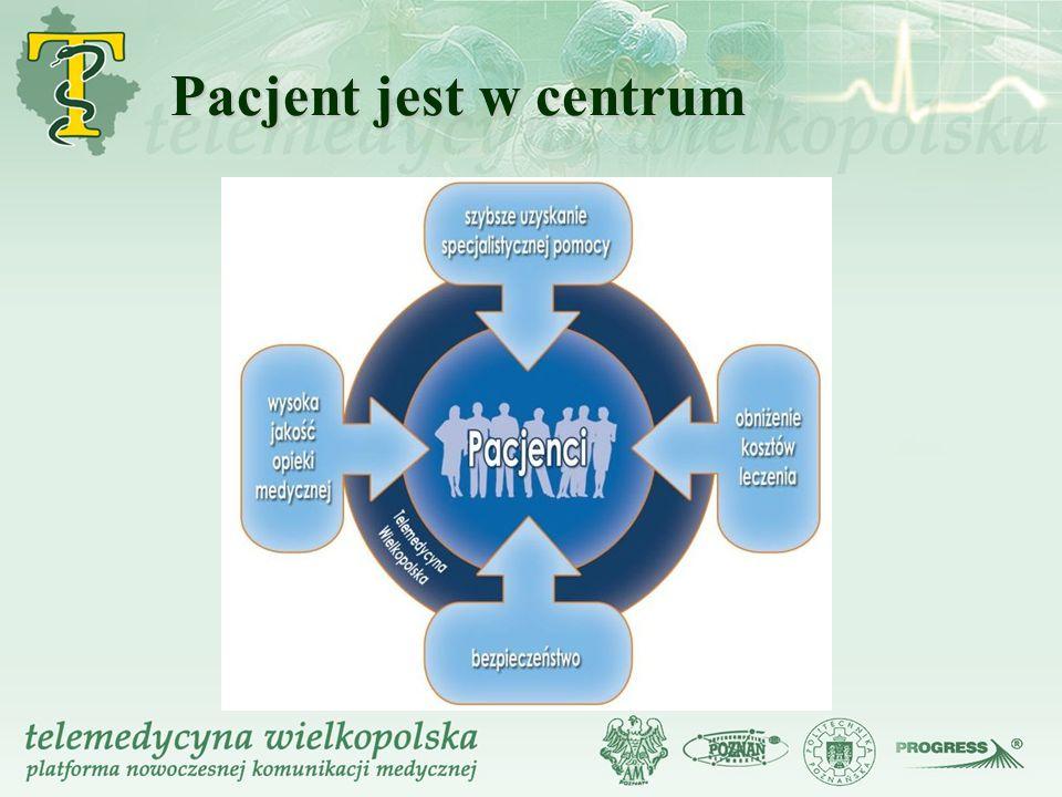 Pacjent jest w centrum