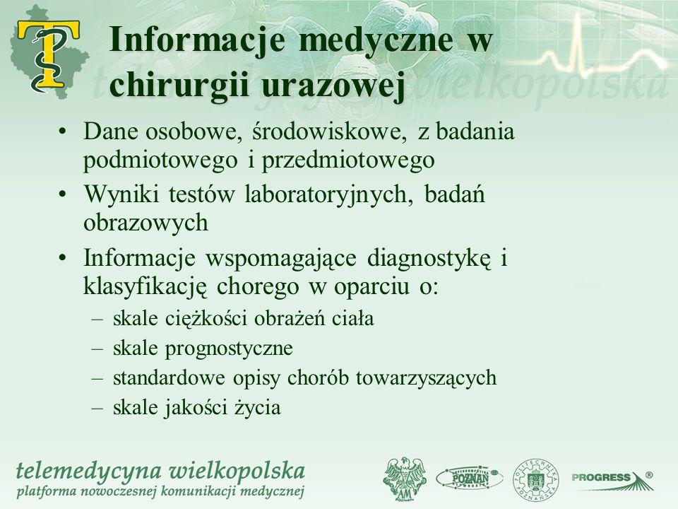 Informacje medyczne w chirurgii urazowej