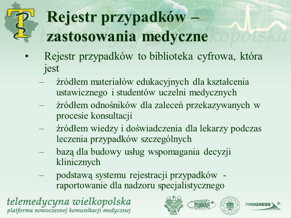 Rejestr przypadków – zastosowania medyczne