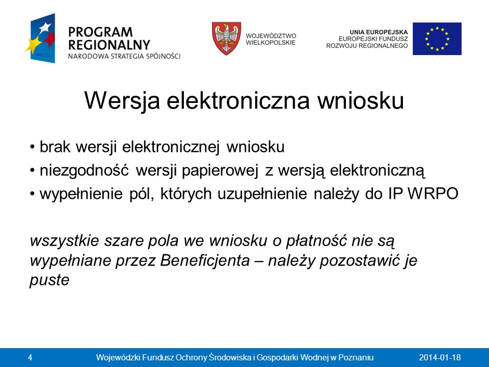Wersja elektroniczna wniosku