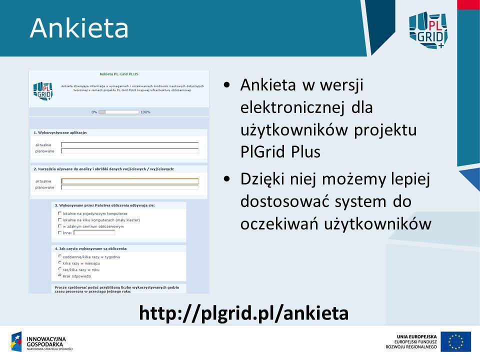 Ankieta http://plgrid.pl/ankieta
