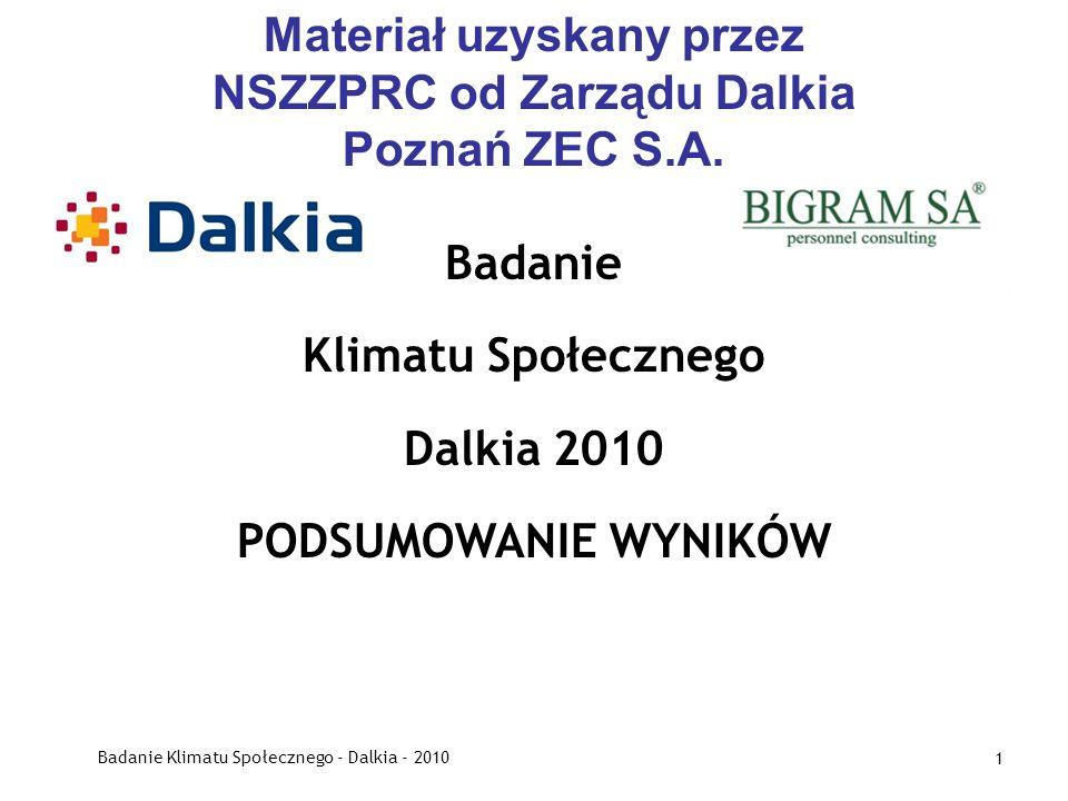 Materiał uzyskany przez NSZZPRC od Zarządu Dalkia Poznań ZEC S.A.