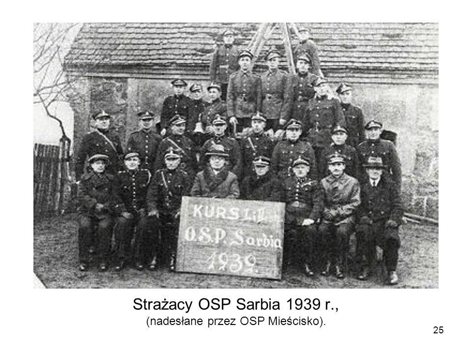 Strażacy OSP Sarbia 1939 r., (nadesłane przez OSP Mieścisko).