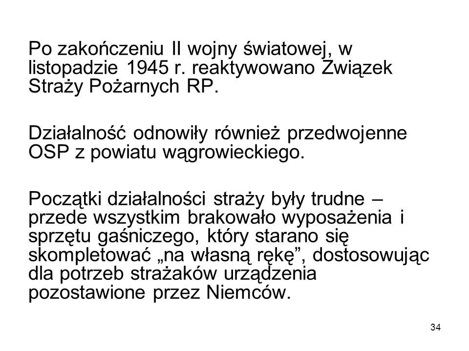 Po zakończeniu II wojny światowej, w listopadzie 1945 r