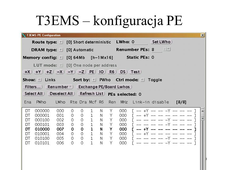 T3EMS – konfiguracja PE