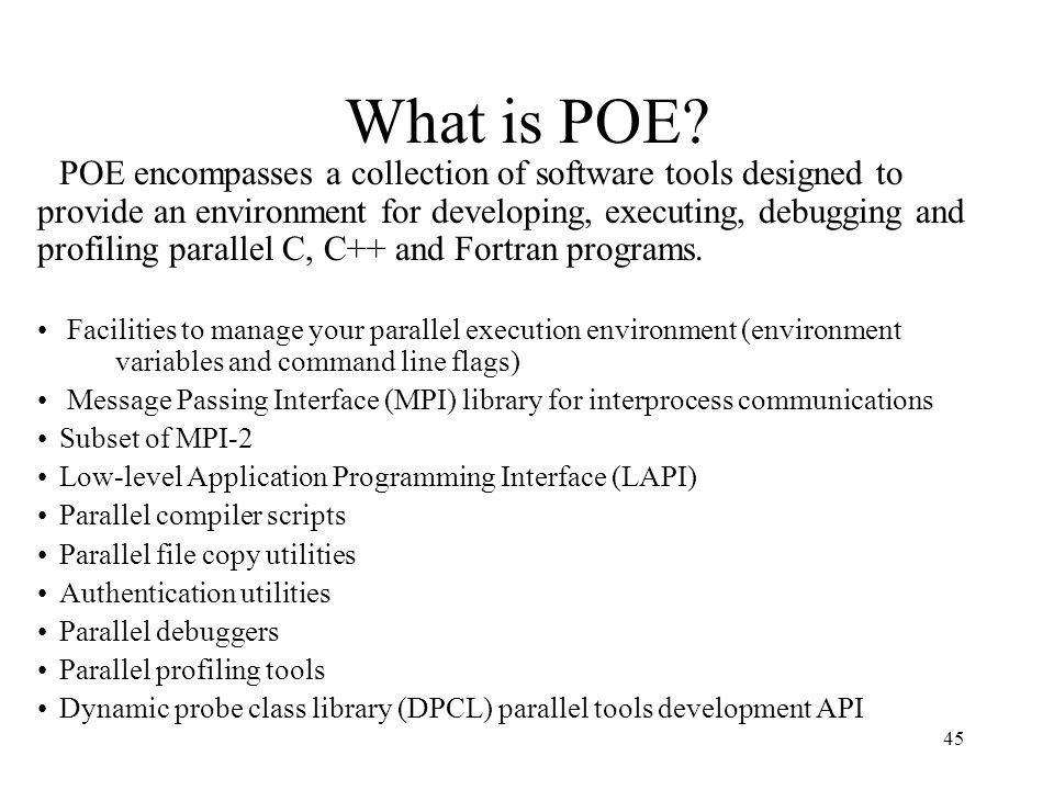 What is POE