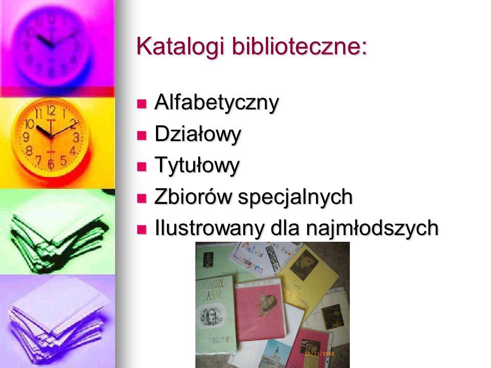 Katalogi biblioteczne: