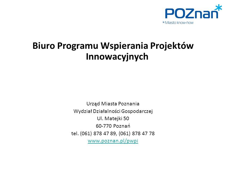 Biuro Programu Wspierania Projektów Innowacyjnych