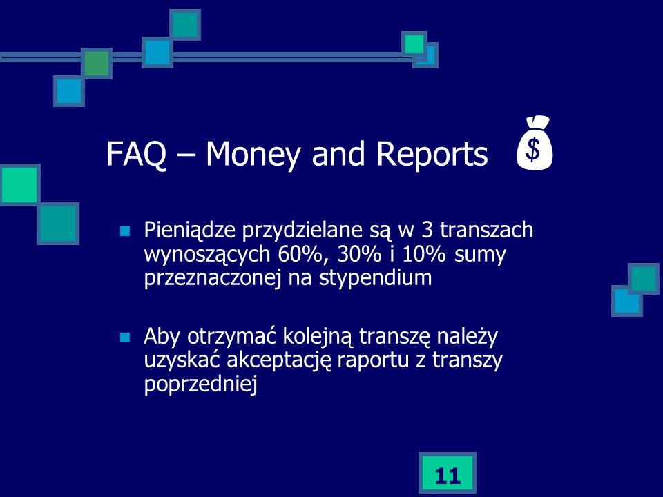 FAQ – Money and Reports 