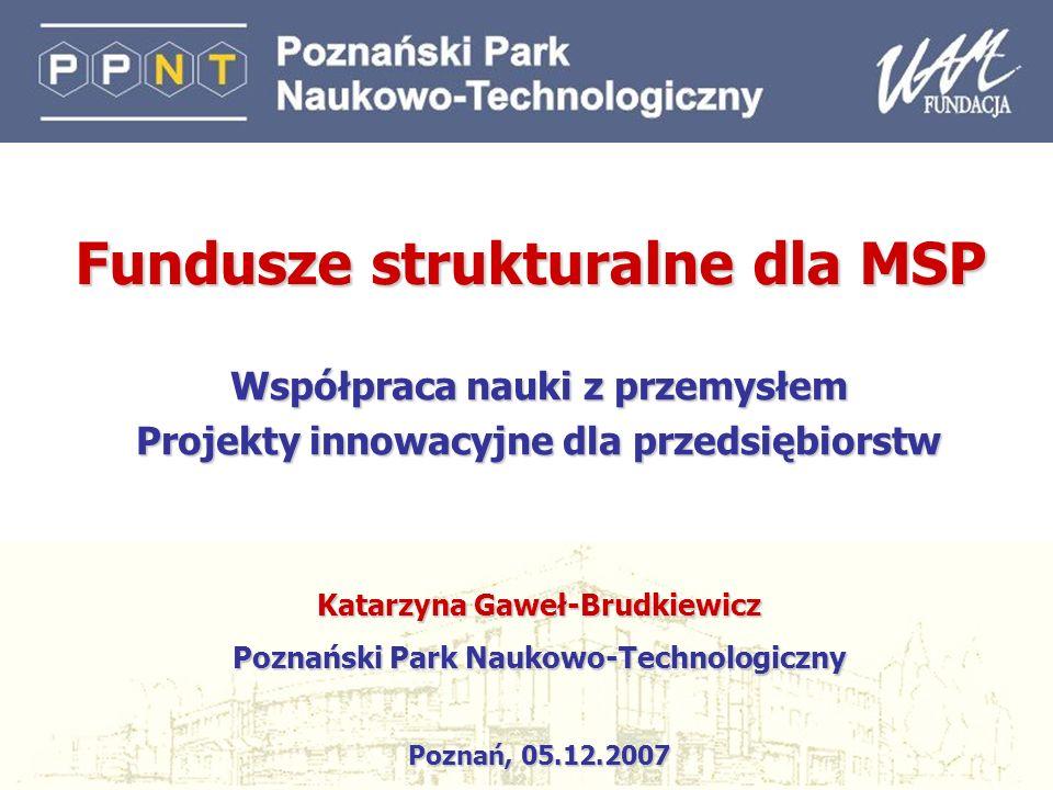 Fundusze strukturalne dla MSP