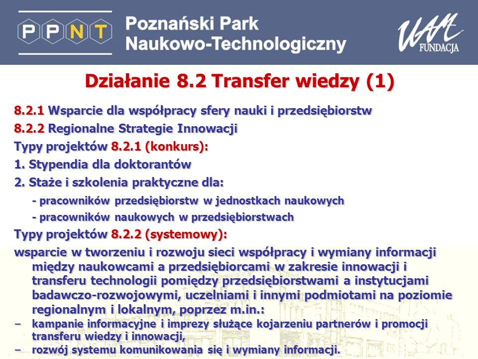 Działanie 8.2 Transfer wiedzy (1)