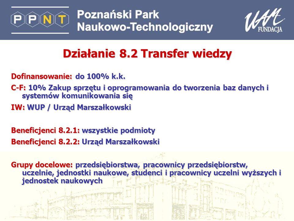 Działanie 8.2 Transfer wiedzy
