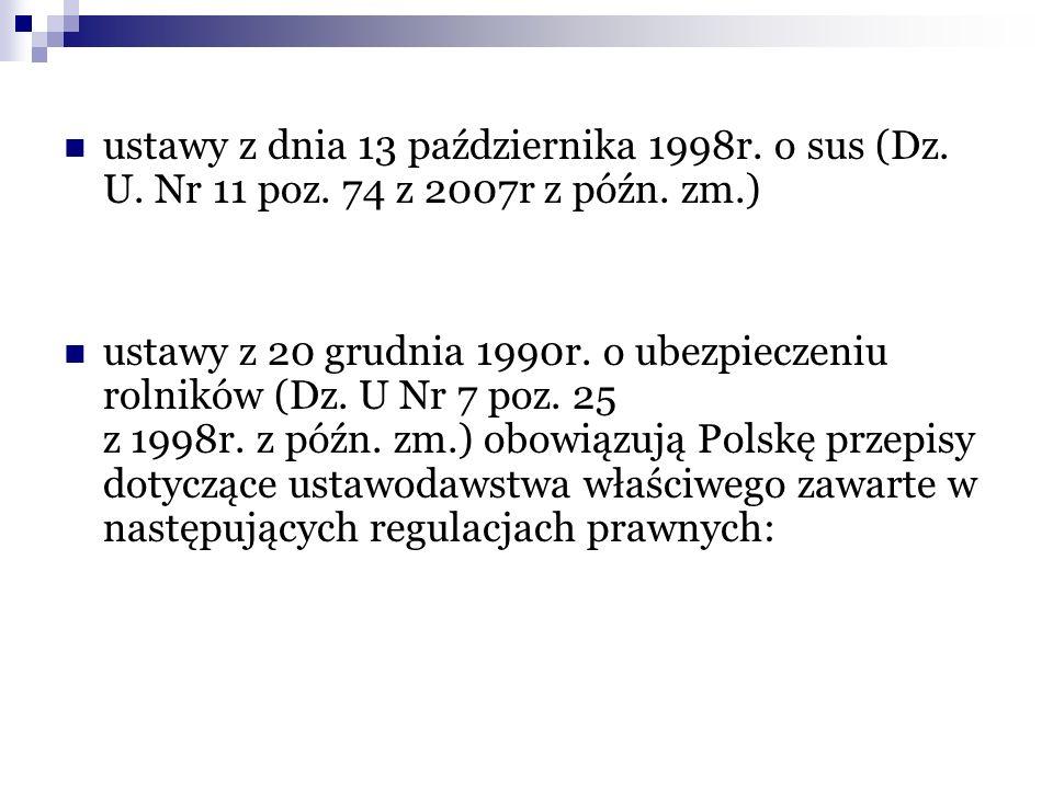 ustawy z dnia 13 października 1998r. o sus (Dz. U. Nr 11 poz