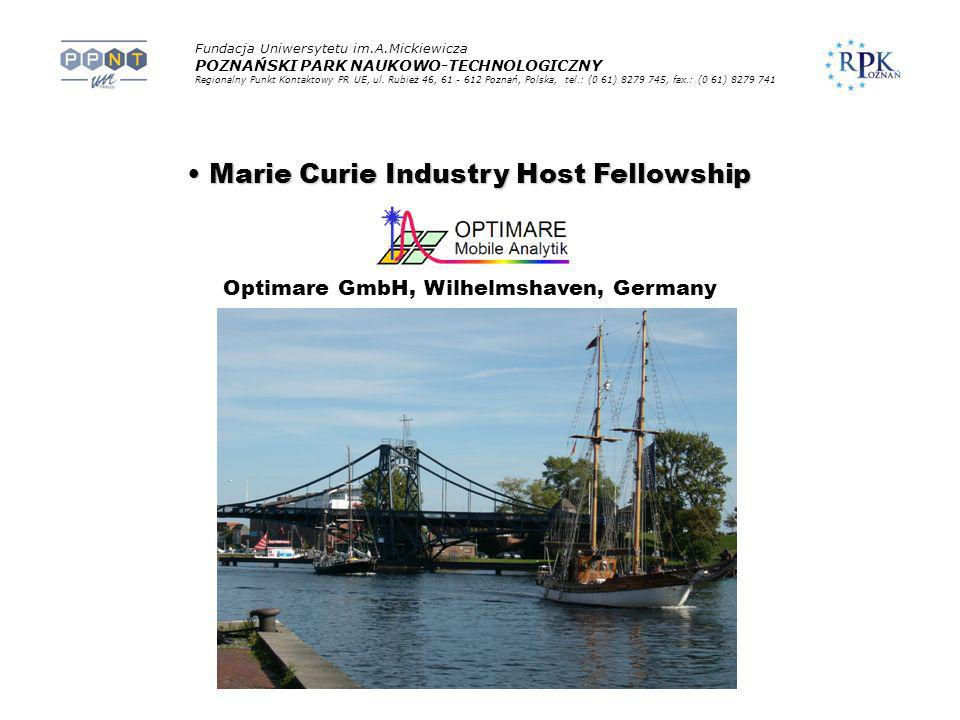 Marie Curie Industry Host Fellowship