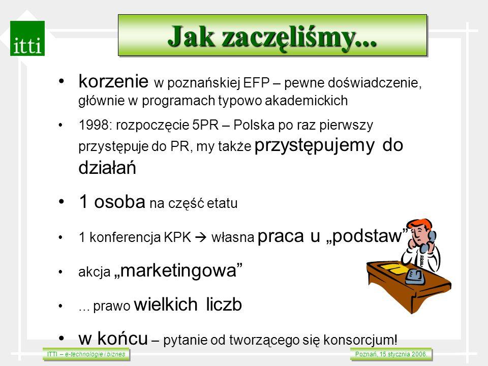Jak zaczęliśmy... korzenie w poznańskiej EFP – pewne doświadczenie, głównie w programach typowo akademickich.