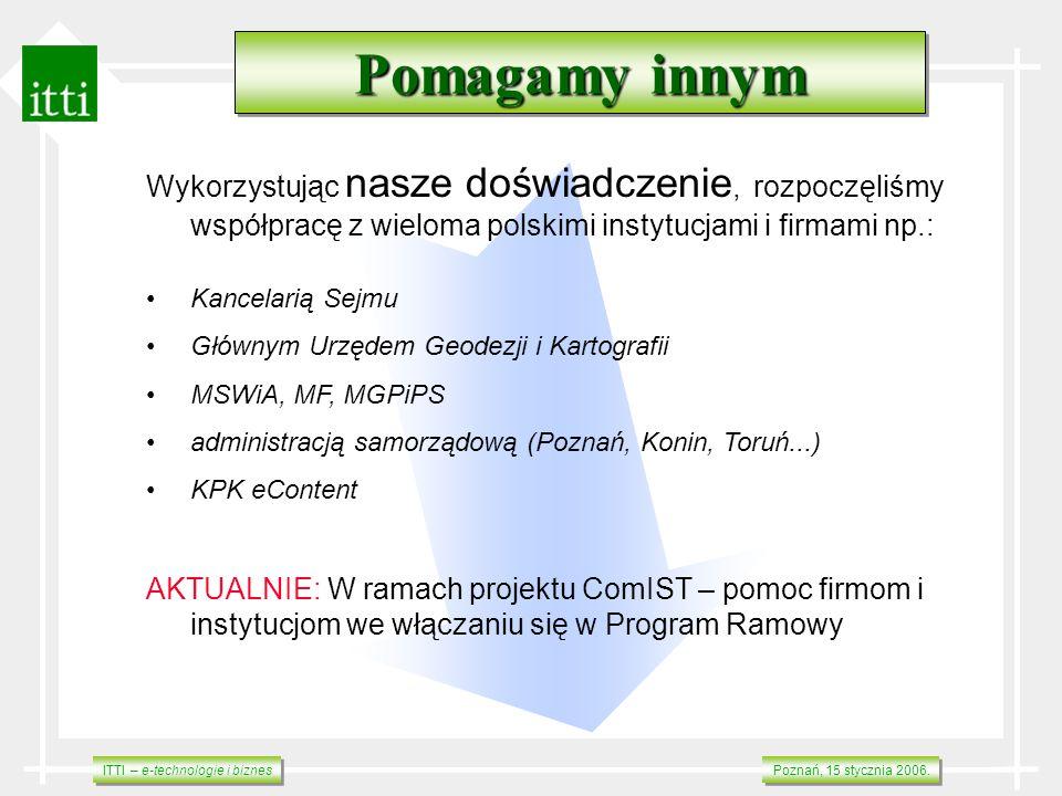 Pomagamy innym Wykorzystując nasze doświadczenie, rozpoczęliśmy współpracę z wieloma polskimi instytucjami i firmami np.: