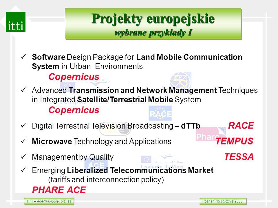 Projekty europejskie wybrane przykłady I