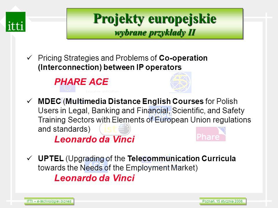 Projekty europejskie wybrane przykłady II