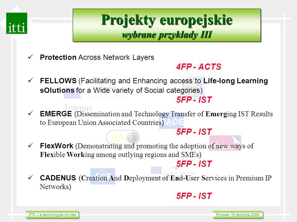 Projekty europejskie wybrane przykłady III RACE ACE