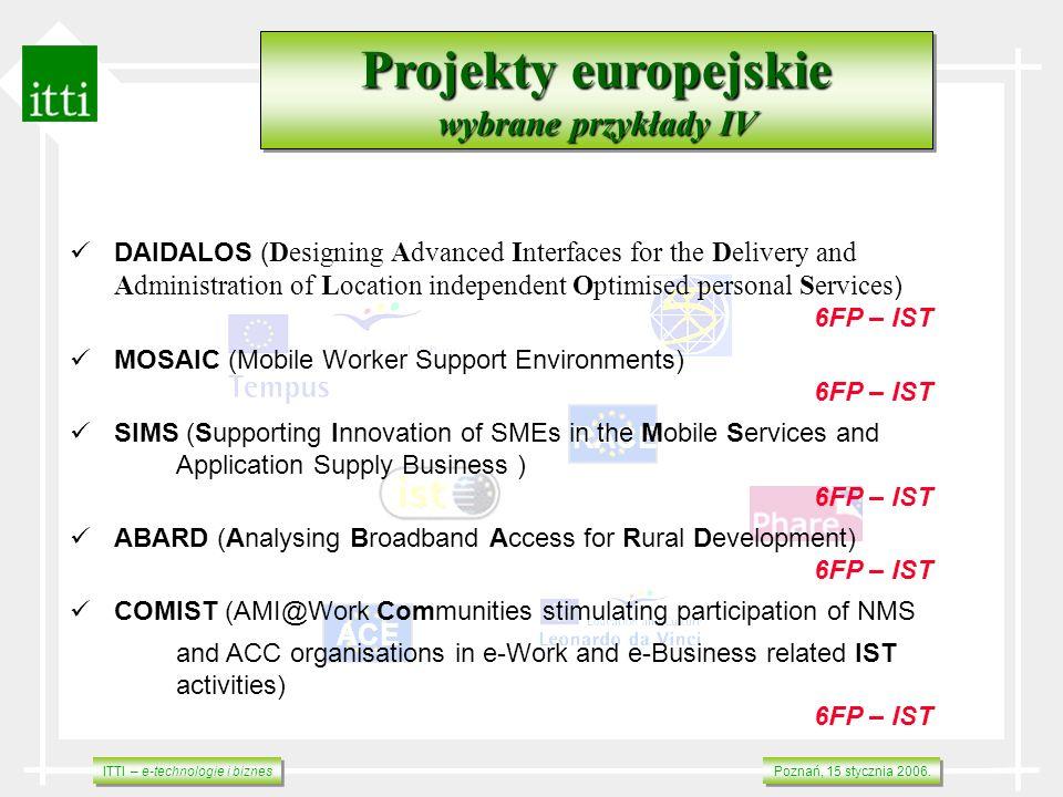 Projekty europejskie wybrane przykłady IV RACE ACE