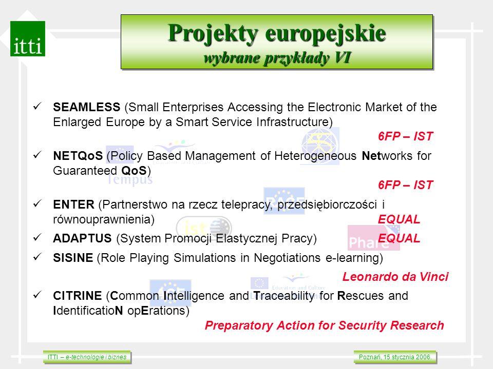 Projekty europejskie wybrane przykłady VI RACE ACE