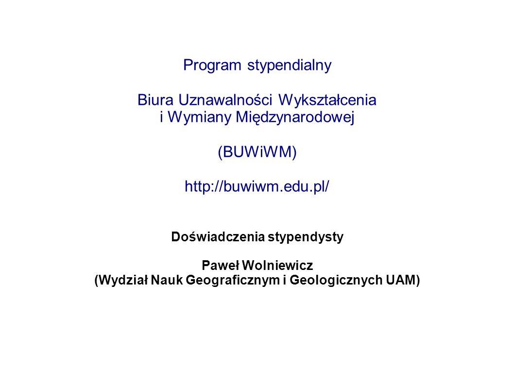 Biura Uznawalności Wykształcenia i Wymiany Międzynarodowej (BUWiWM)