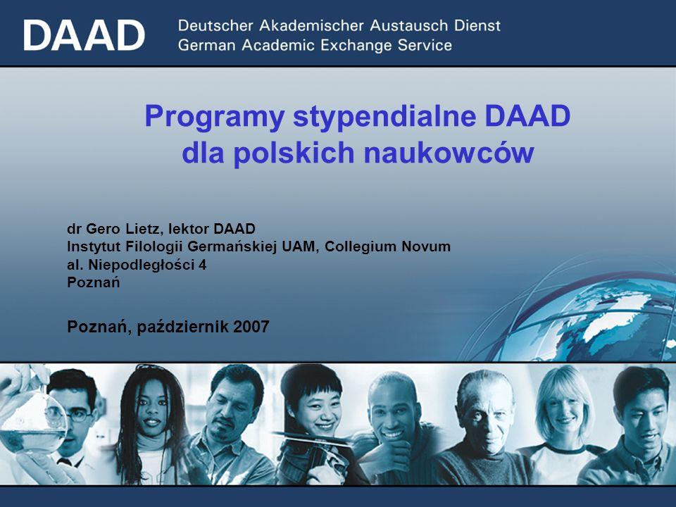 Programy stypendialne DAAD dla polskich naukowców