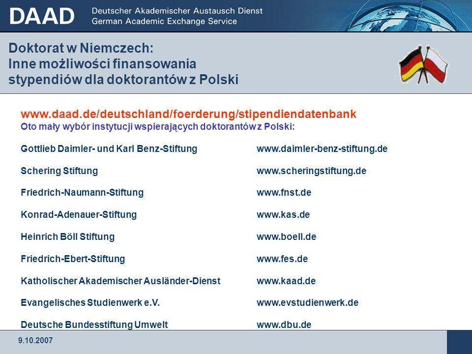 Doktorat w Niemczech: Inne możliwości finansowania stypendiów dla doktorantów z Polski