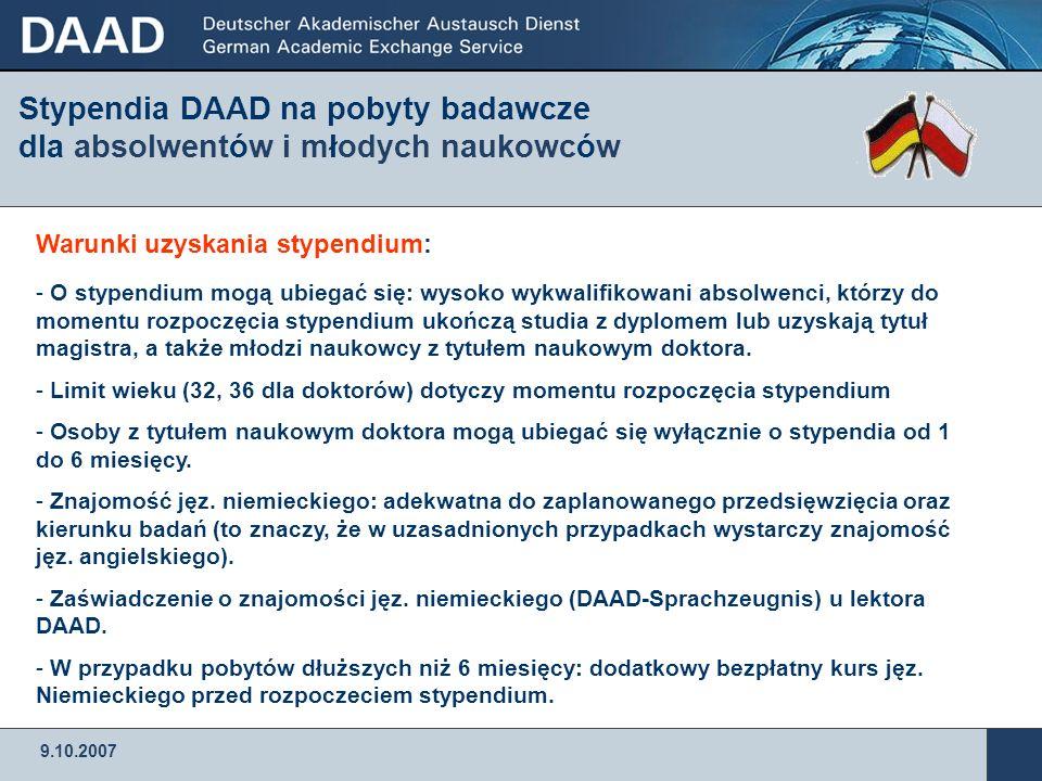 Stypendia DAAD na pobyty badawcze dla absolwentów i młodych naukowców