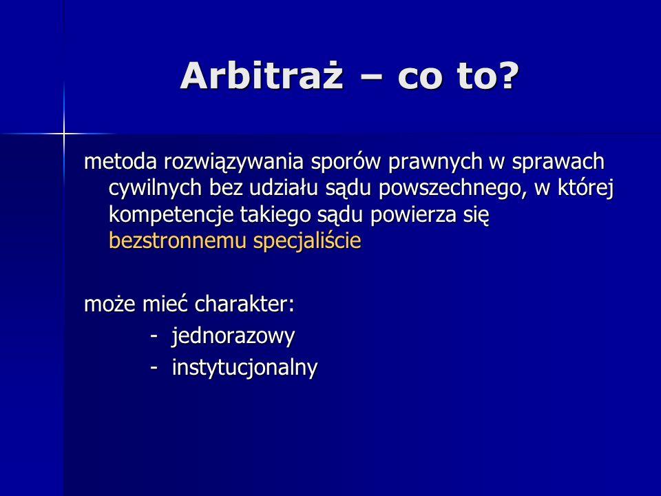 Arbitraż – co to