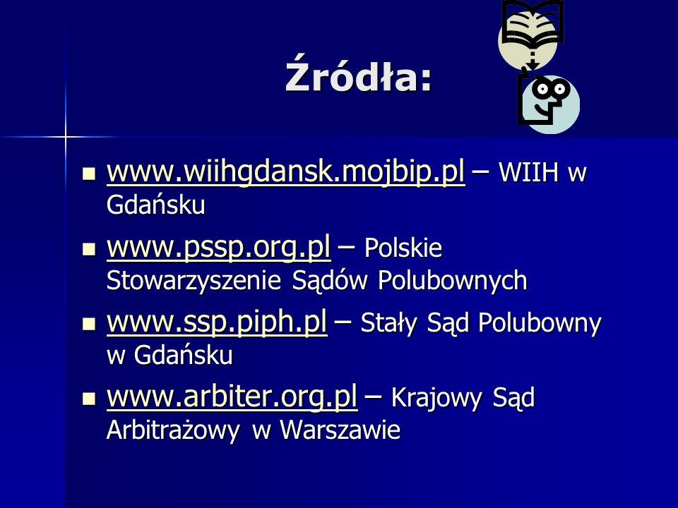 Źródła: www.wiihgdansk.mojbip.pl – WIIH w Gdańsku