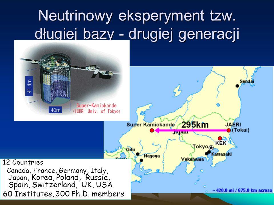 Neutrinowy eksperyment tzw. długiej bazy - drugiej generacji