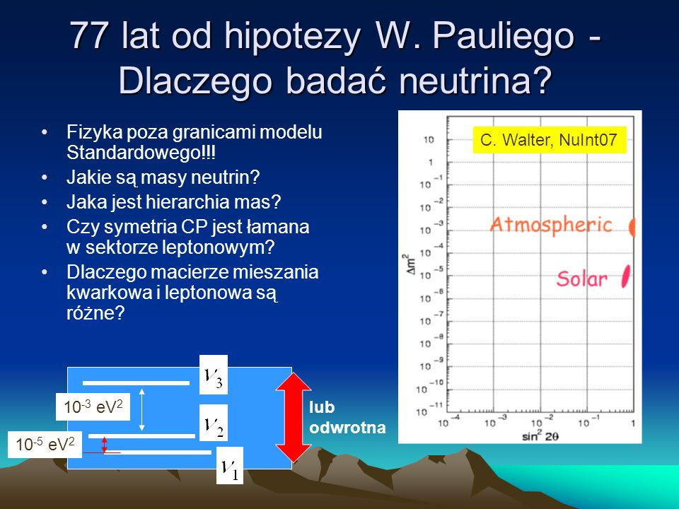 77 lat od hipotezy W. Pauliego -Dlaczego badać neutrina