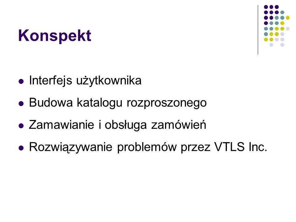 Konspekt Interfejs użytkownika Budowa katalogu rozproszonego