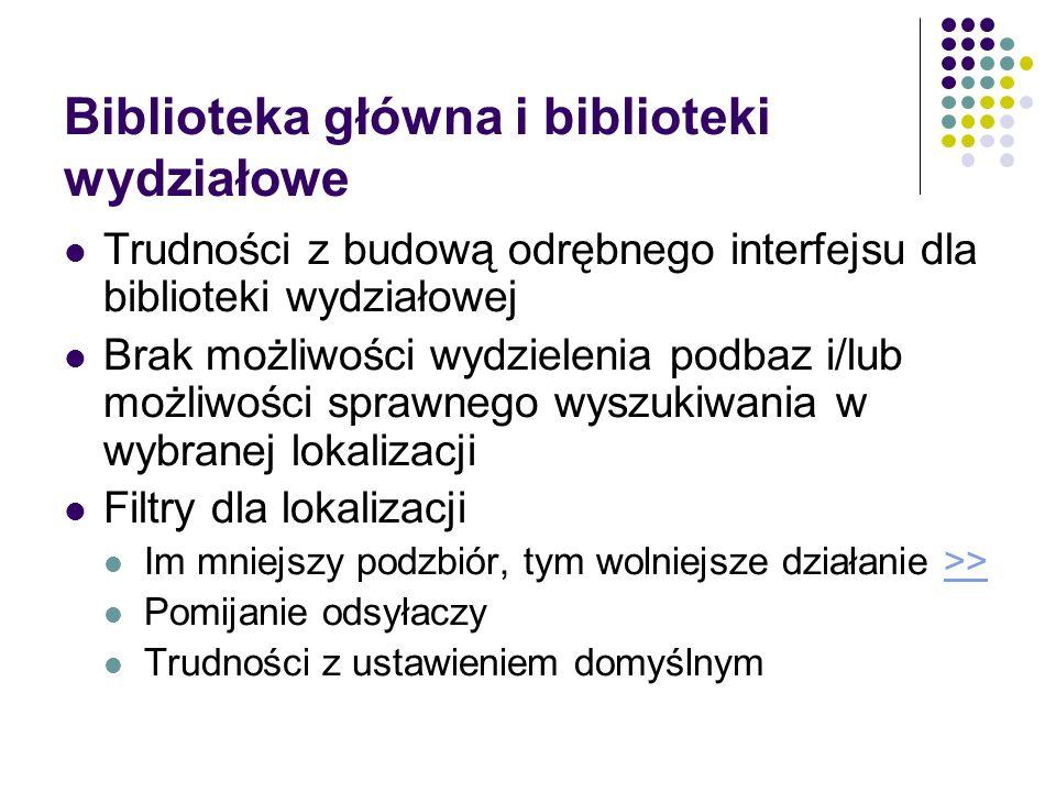 Biblioteka główna i biblioteki wydziałowe