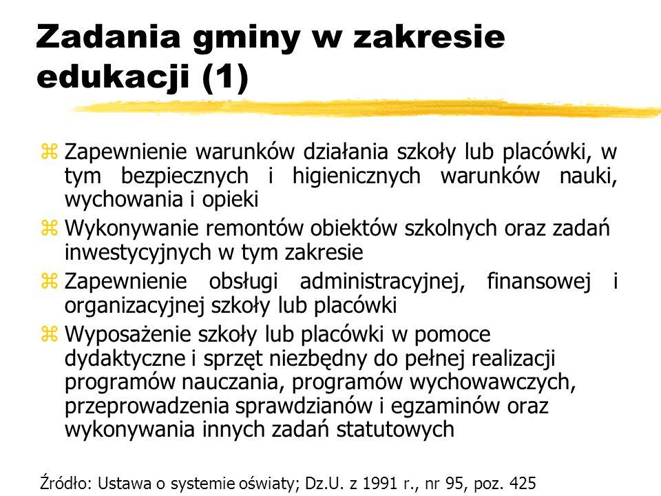 Zadania gminy w zakresie edukacji (1)