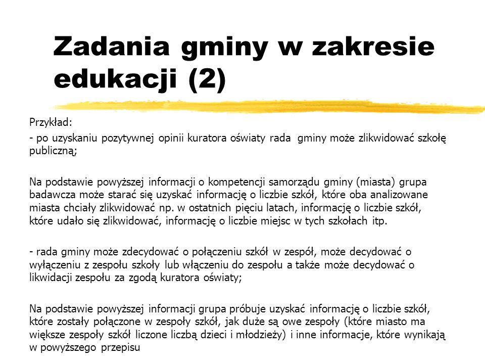 Zadania gminy w zakresie edukacji (2)