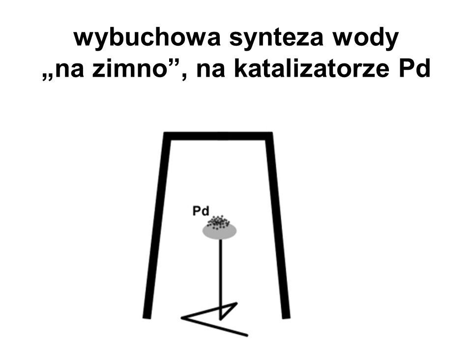 "wybuchowa synteza wody ""na zimno , na katalizatorze Pd"