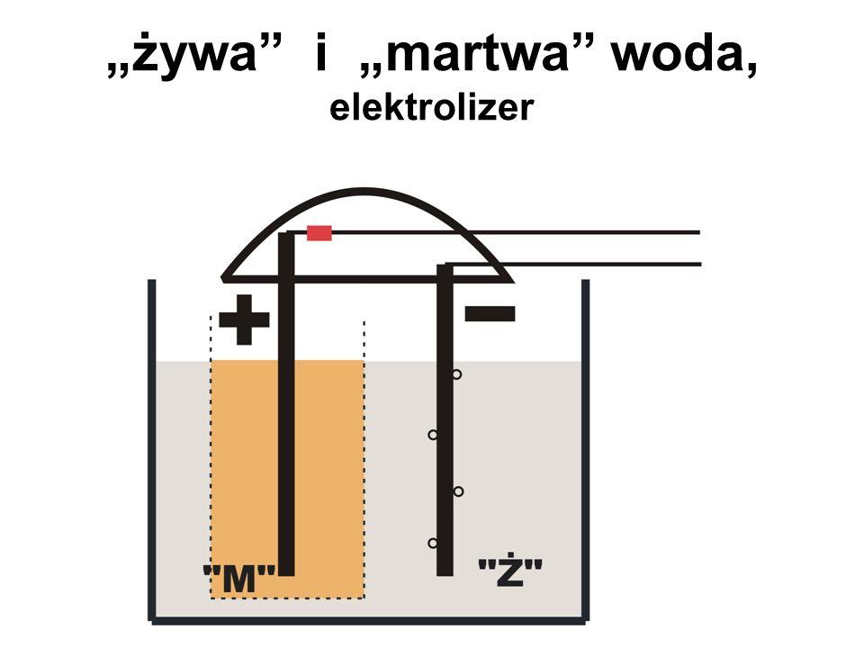 """""""żywa i """"martwa woda, elektrolizer"""