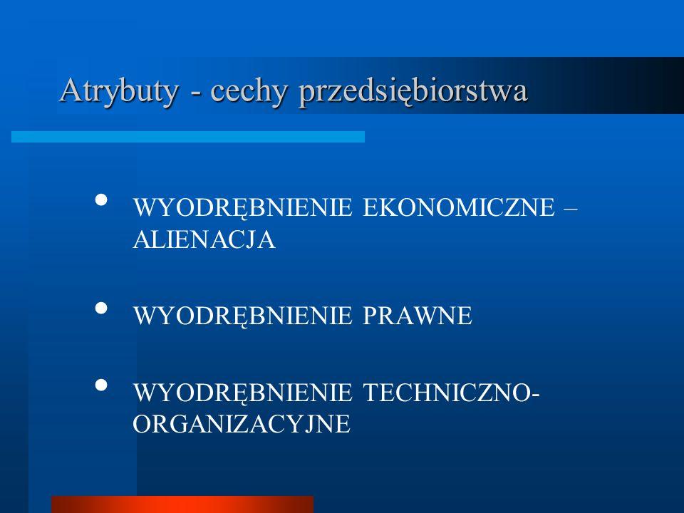 Atrybuty - cechy przedsiębiorstwa