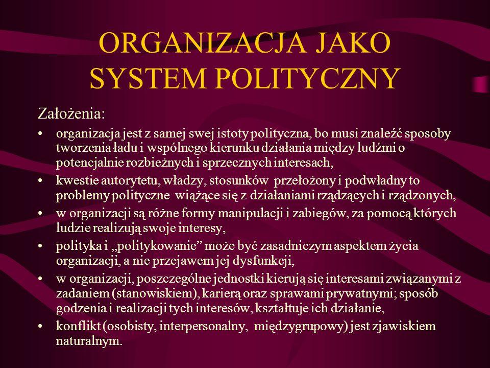 ORGANIZACJA JAKO SYSTEM POLITYCZNY