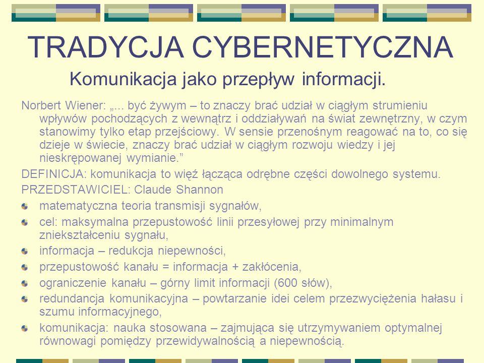 TRADYCJA CYBERNETYCZNA