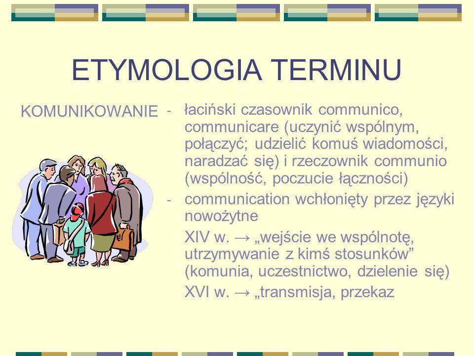 ETYMOLOGIA TERMINU KOMUNIKOWANIE