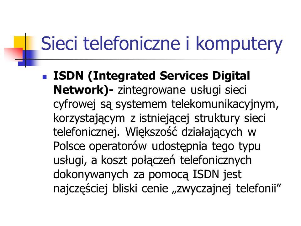 Sieci telefoniczne i komputery