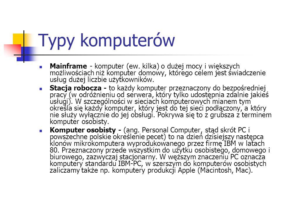 Typy komputerów