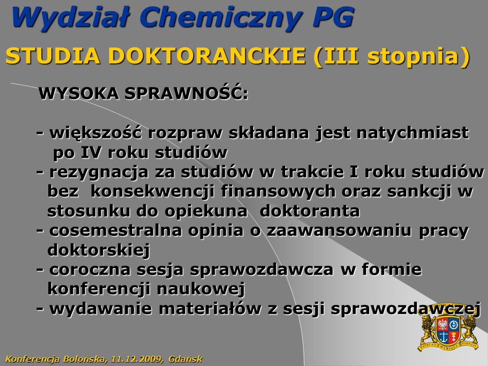 STUDIA DOKTORANCKIE (III stopnia)