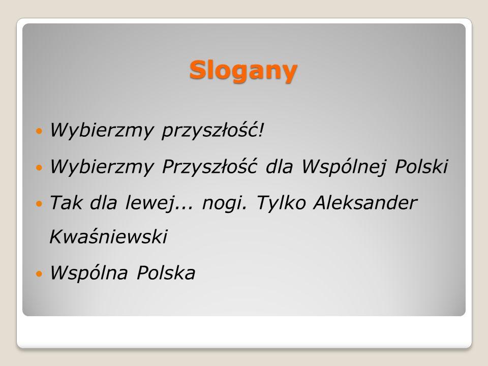 Slogany Wybierzmy przyszłość! Wybierzmy Przyszłość dla Wspólnej Polski