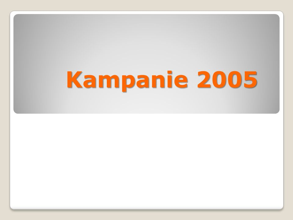 Kampanie 2005