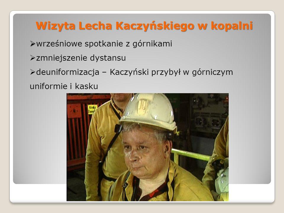 Wizyta Lecha Kaczyńskiego w kopalni
