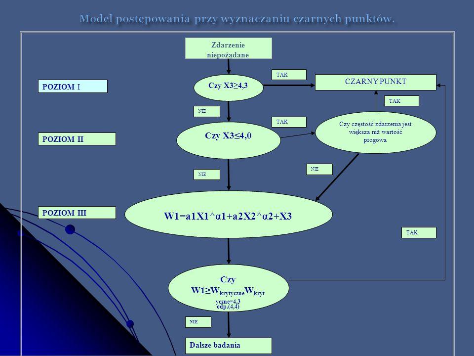 Model postępowania przy wyznaczaniu czarnych punktów.
